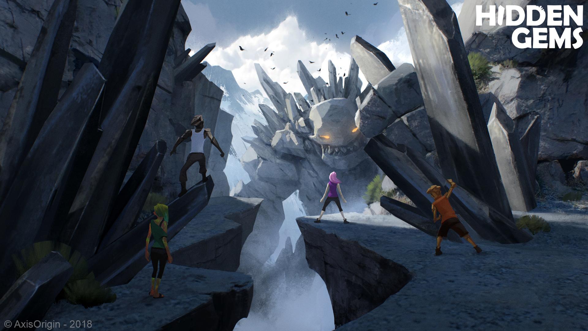 Stibnite Giant Concept Art by Nikolay Razuev