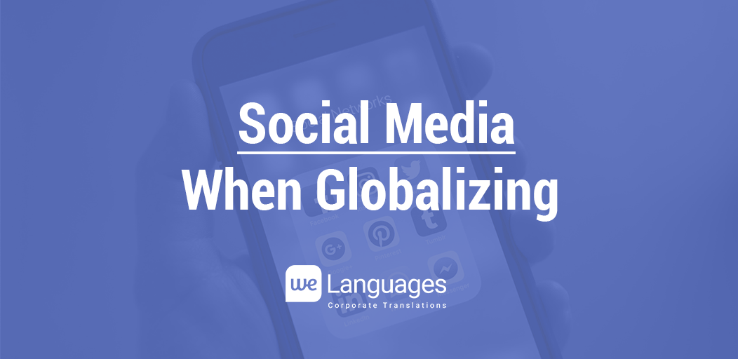 social media when globalizing