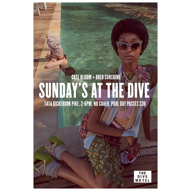 Every Sunday from 2-6pm, my brother @casebloom and I are playing the soundtrack for your hazy summer afternoon. Come hang with us for a pool day @thedivemotel