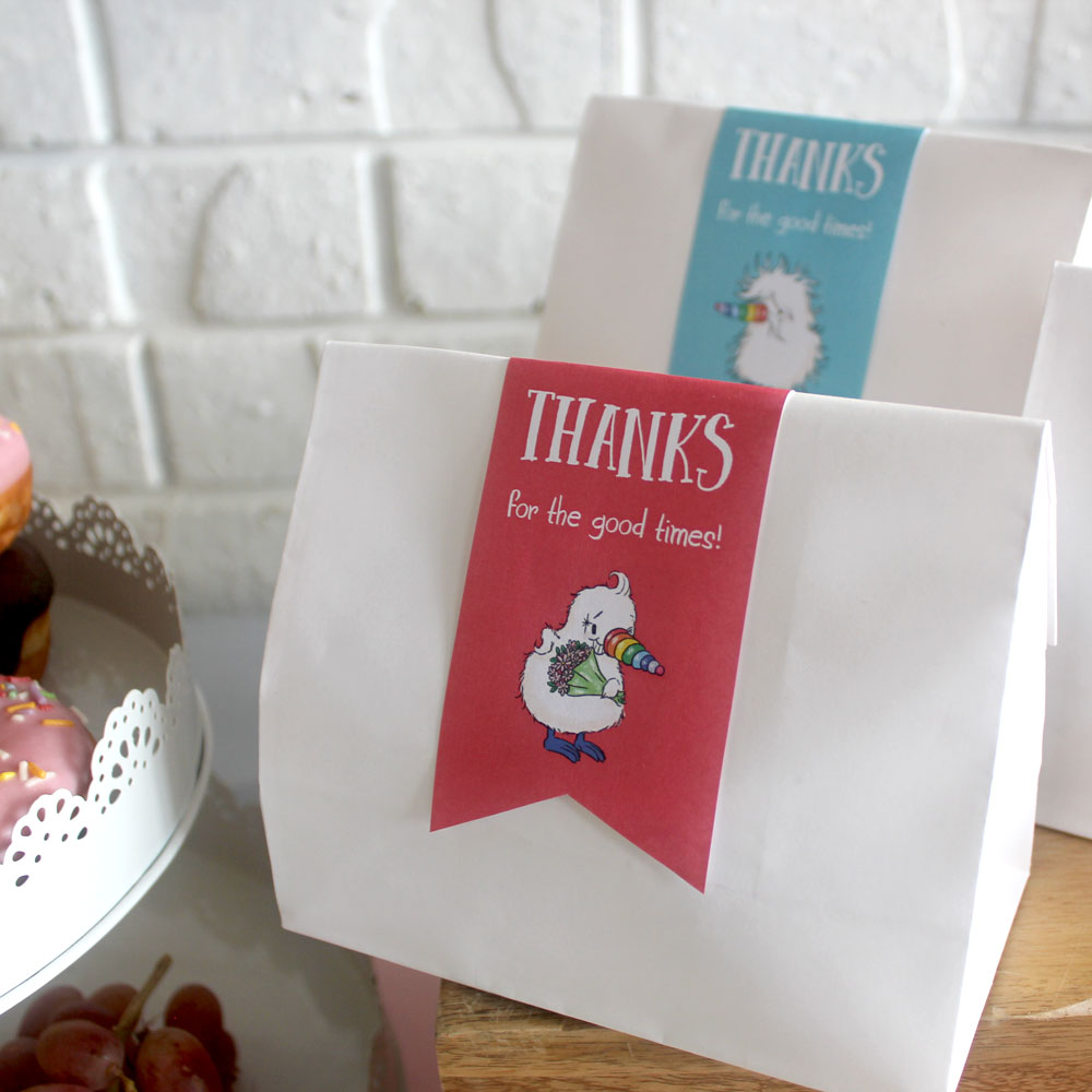 Kiwicorn Favour Labels   Say thanks to your guests   Download