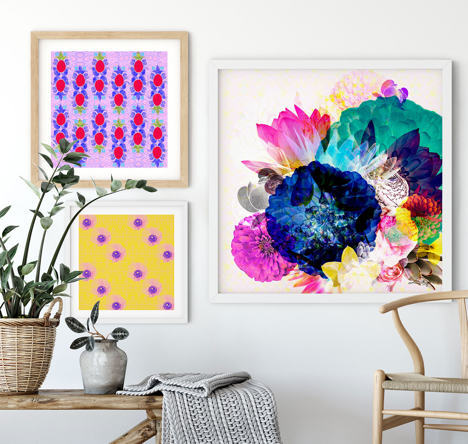 So, what do we do? - We are a boutique art+surface design studio based in stunning Sydney.We design vibrant, contemporary & eclectic print+pattern collections for interiors, textiles & brands. Each of our prints tells a unique story, inspired by travel, nature & life experiences.