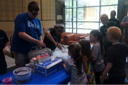 Alumni weekend- Marie volunteered at alumni weekend by making liquid nitrogen ice cream. Food + Chemistry = Yum!