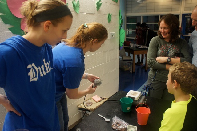 Githens Middle School Science Night- The Derbyshire lab had fun with science demonstrations for K-12 students.