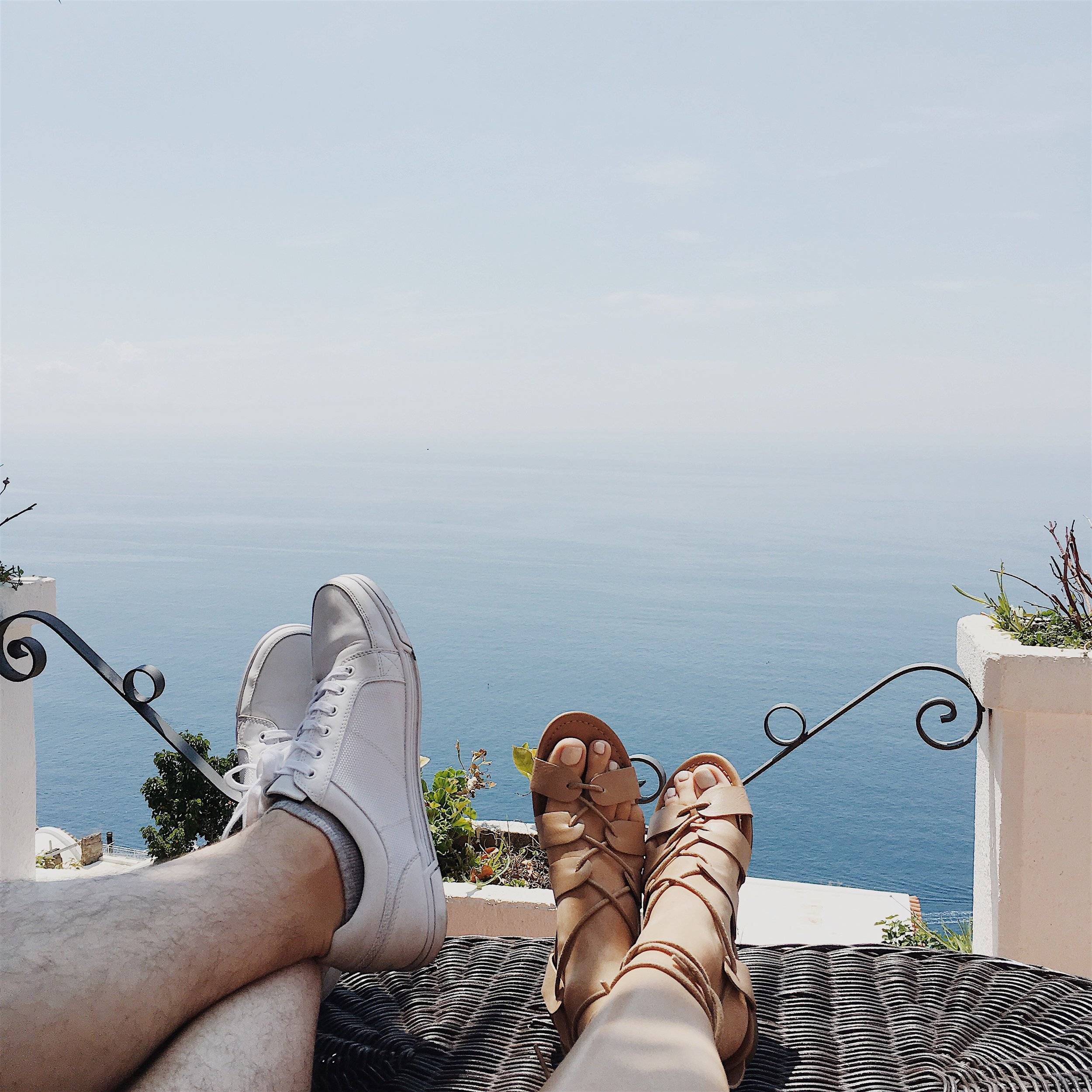 lounging on our terrace with an infinity sea... -