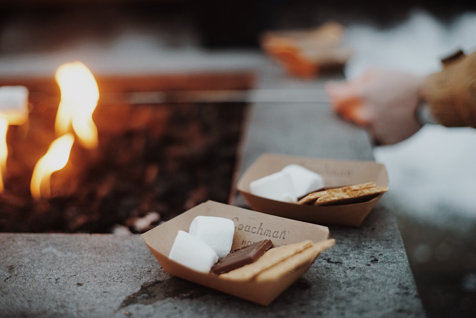 Smores every evening . The kids love this part!