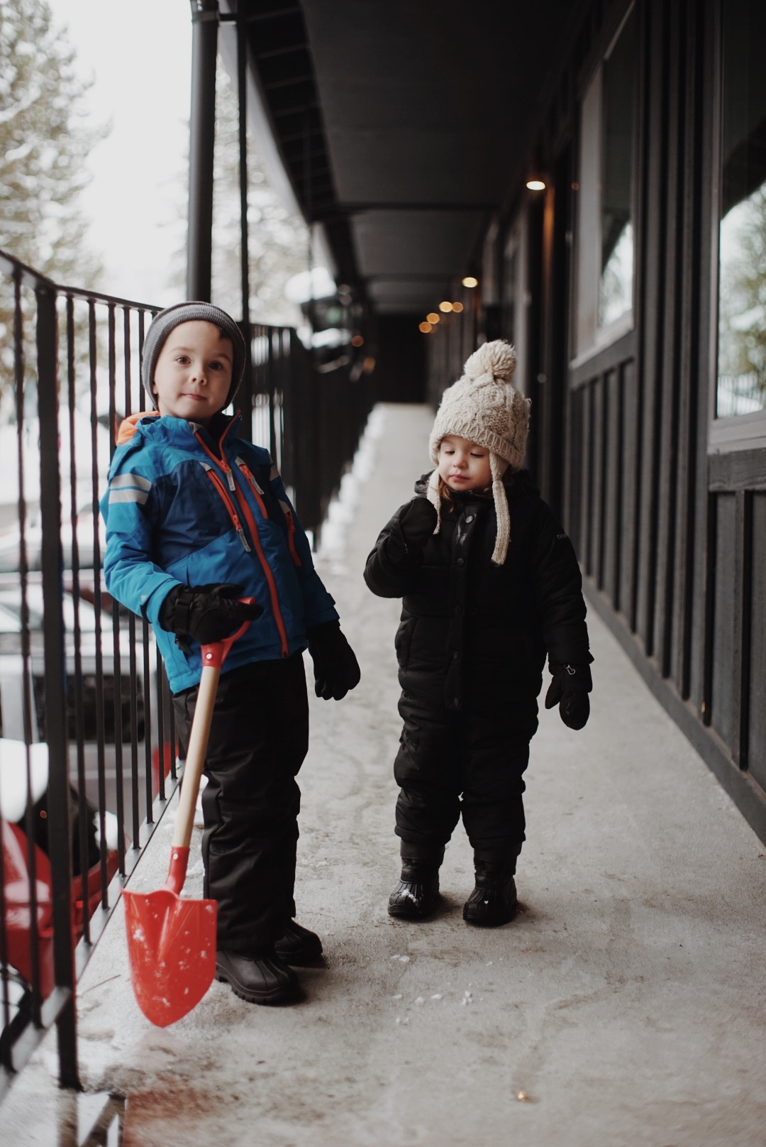 The kids absolutely love the snow despite how cold it was.