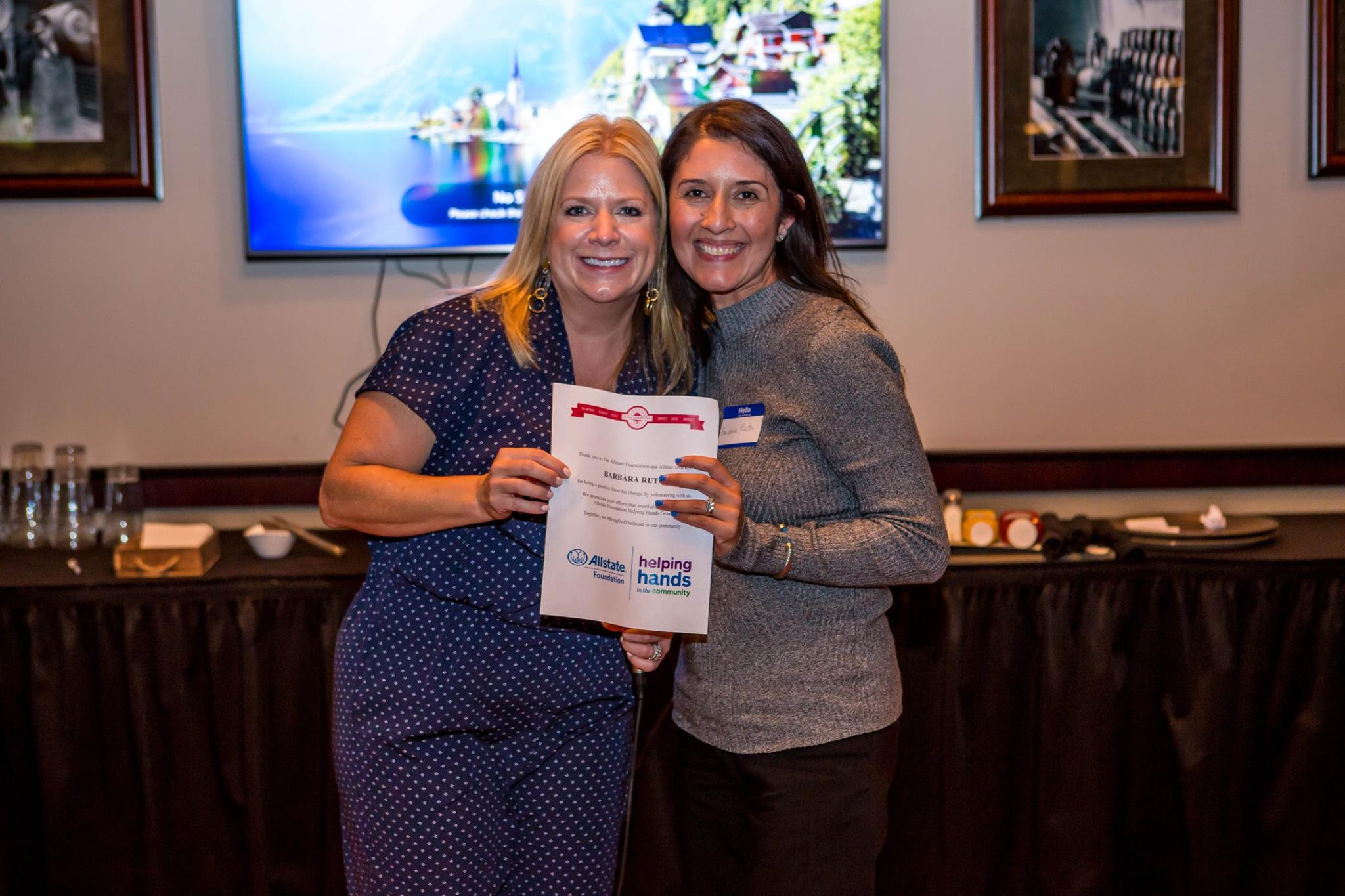 Congratulations to Allstate volunteer and Downers Grove Junior Woman's Club member, Barbara Ruta, for being a positive for of change in our community!