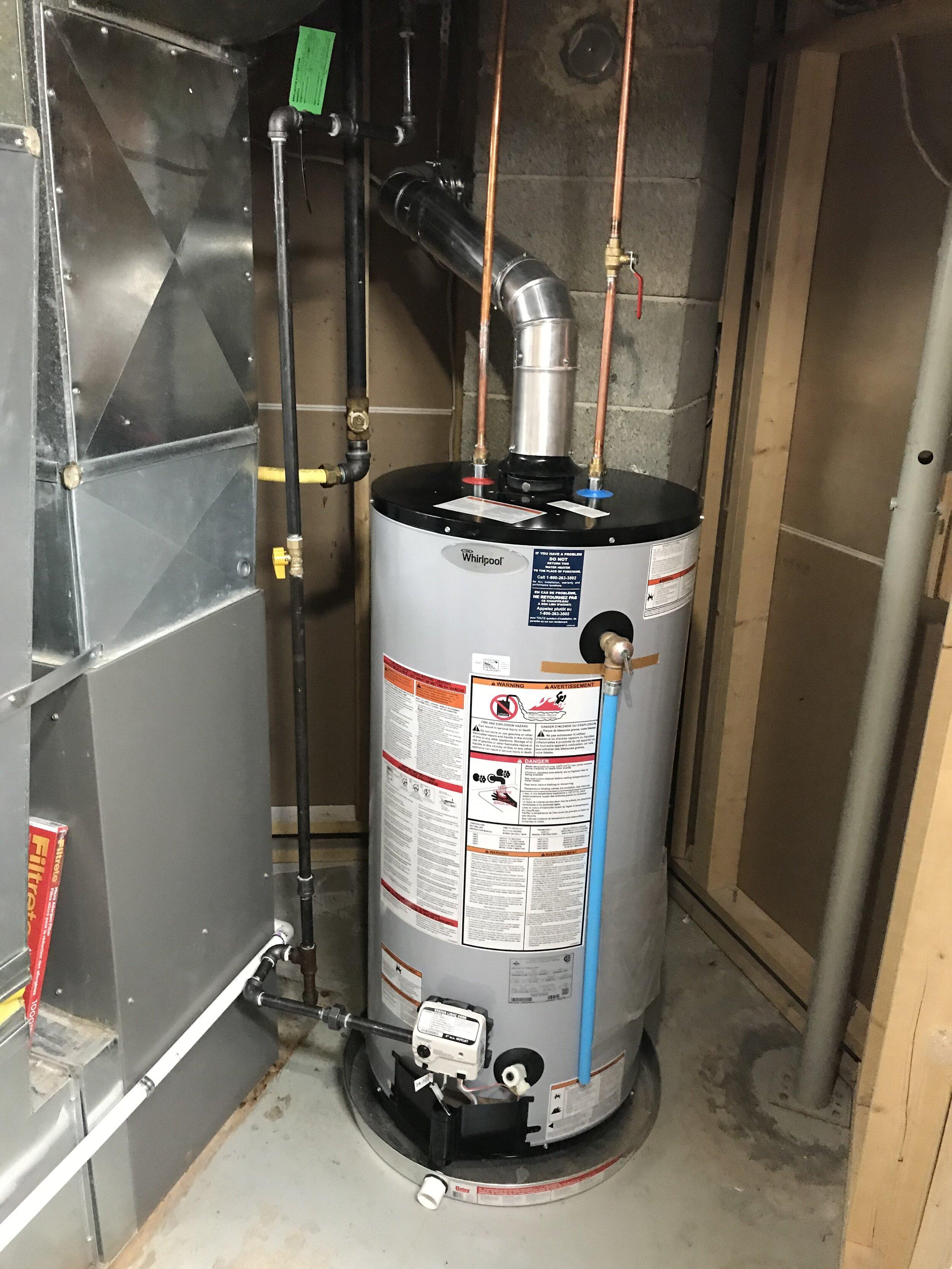 50 gallon Whirlpool Water Heater Installation
