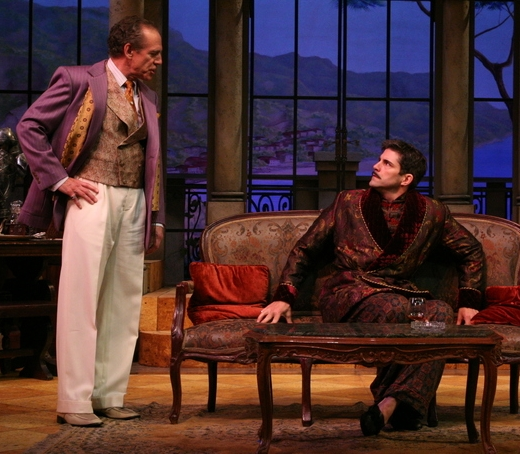 "The Play's the Thing - Shakespeare Theatre of New JerseyVariety ""Robert Gomes defines the role of a preening ham actor ... ""Independent Press ""Robert Gomes as Almady is especially hilarious ...""Essex Journal ""... the most uproarious performance delivered by Robert Gomes ... ""Curtain Up NJ ""... as played with bravura narcissism by Robert Gomes ... ""Packet Online "" ... by the second half he has the audience roaring with near hysterical joy.""(Pictured with Mark Jacoby)"