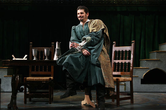 "Cymbeline - Shakespeare Theatre of New JerseyThe New York Times ""On the positive side, the cavalier loutishness of Robert Gomes playing Iachimo ...""Variety ""Robert Gomes as the scheming seducer Iachimo registers distinctly.""Packet Online ""Robert Gomes is a strong Iachimo, clever, calculating …""Curtain Up "" ... the most impressive performance from comely Robert Gomes, as the deceitful Italian. ""The Montclair Times ""Robert Gomes has an easy command of Shakespearean verse — a valuable addition to the company.""Essex Journal "" … seductively played by Robert Gomes."""