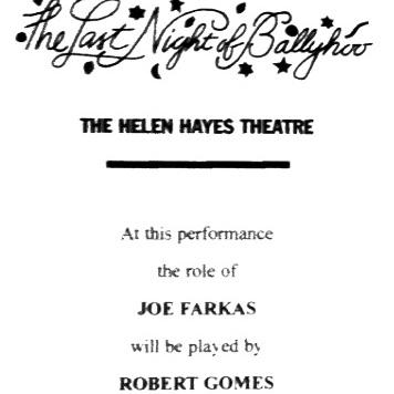 Program insert from  The Last Night of Ballyhoo,  1997-1998. I stood by for Paul Rudd.