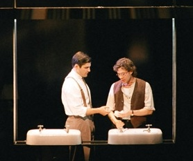 "Angels in America - Dallas Theater CenterThe Dallas Morning News ""Mr. Gomes turns in a finely shaded, more human performance … manages to make guilt seem so attractive.""(Pictured with Joseph Fuqua)"