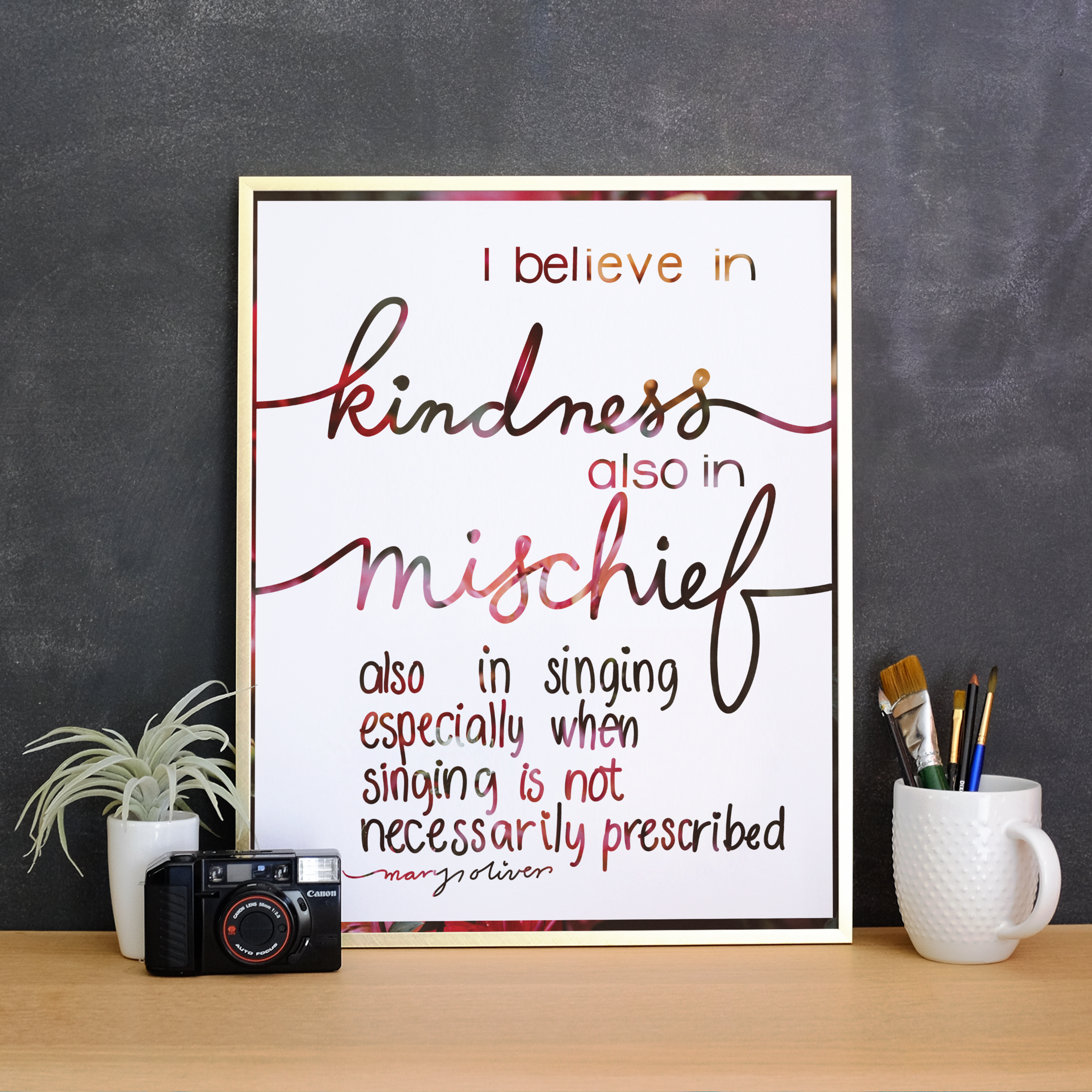 """""""I believe in kindness..."""""""