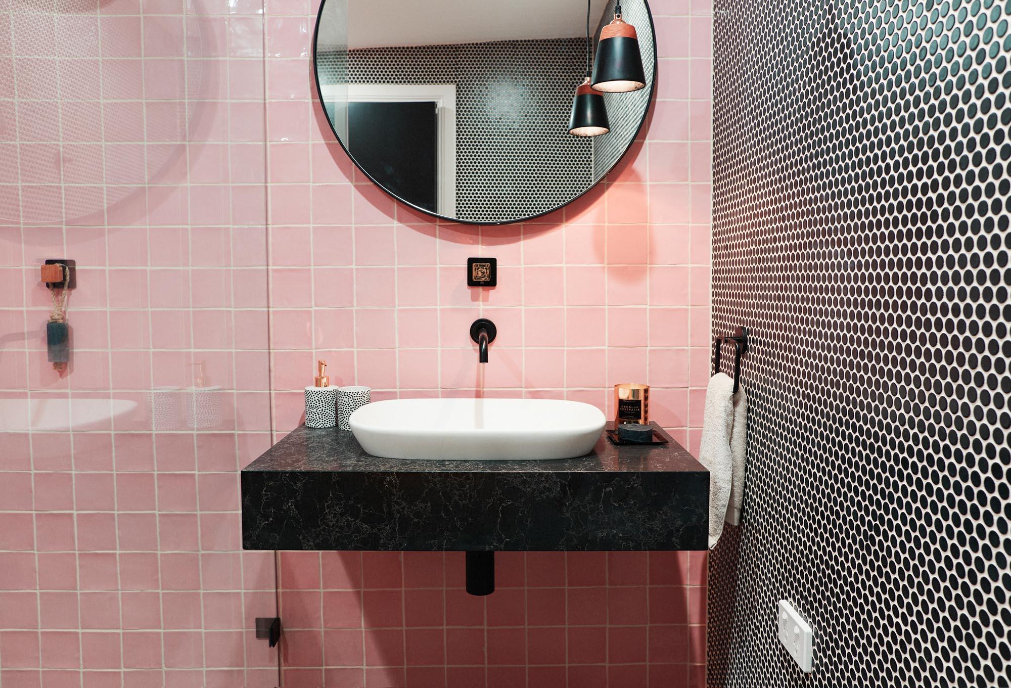 Pink Bathroom, Tiles