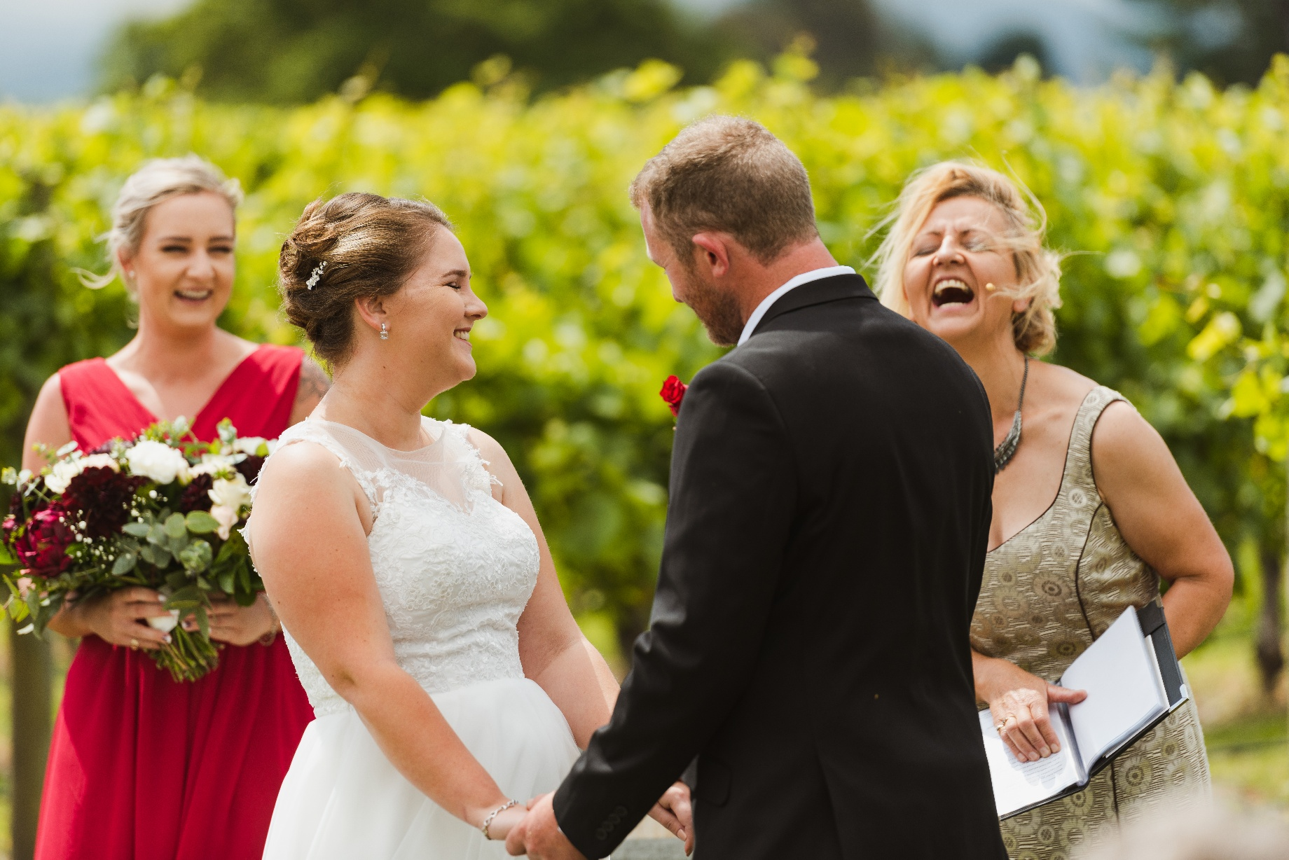 A lighthearted moment during the ceremony…