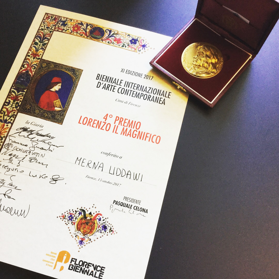 International Painting Award - I'm privileged to have won 'Lorenzo il Magnifico painting award' at Florence Biennale in Italy.