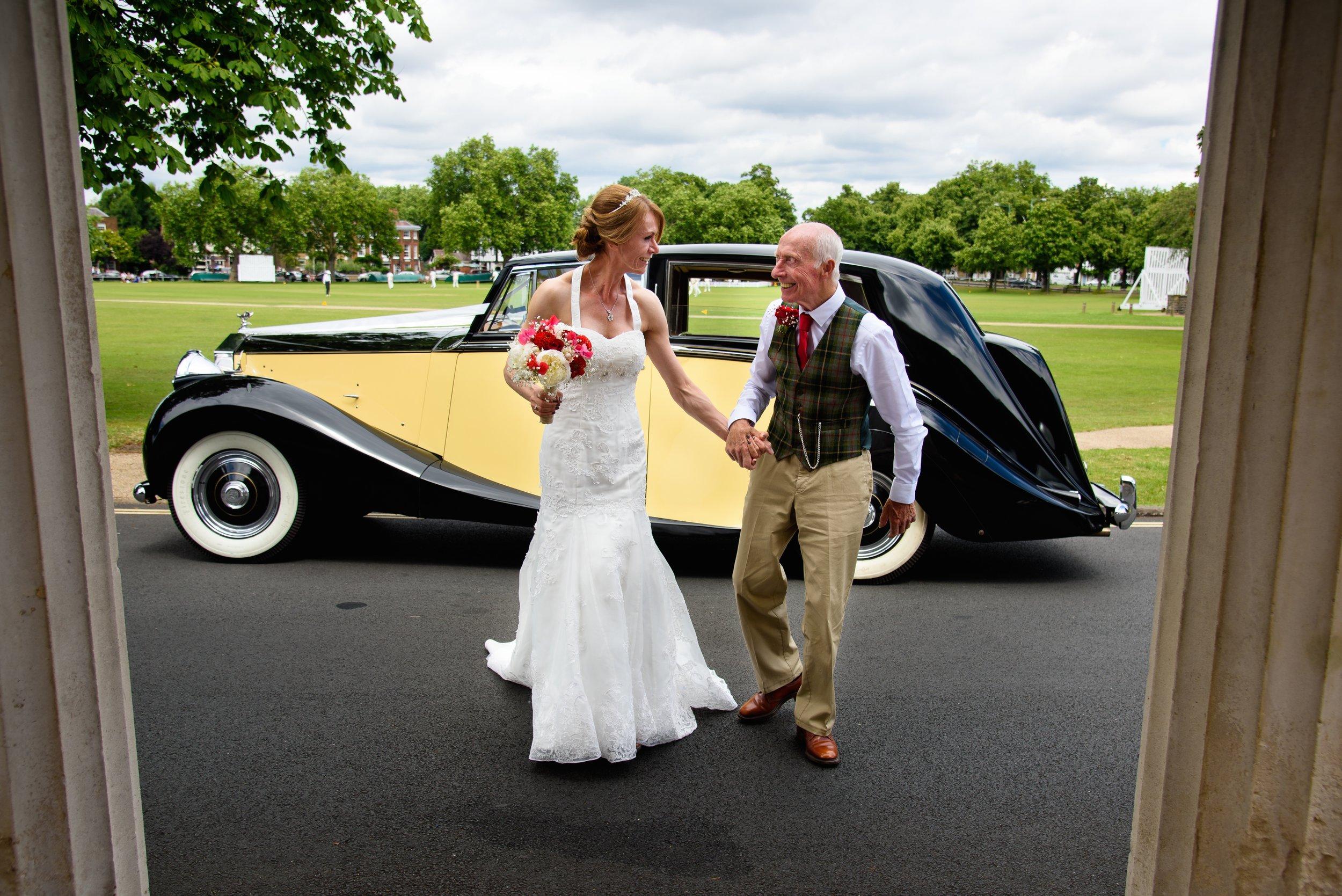 Classic Car Hire Rolls Royce Silver Wraith 1950 bride.jpg