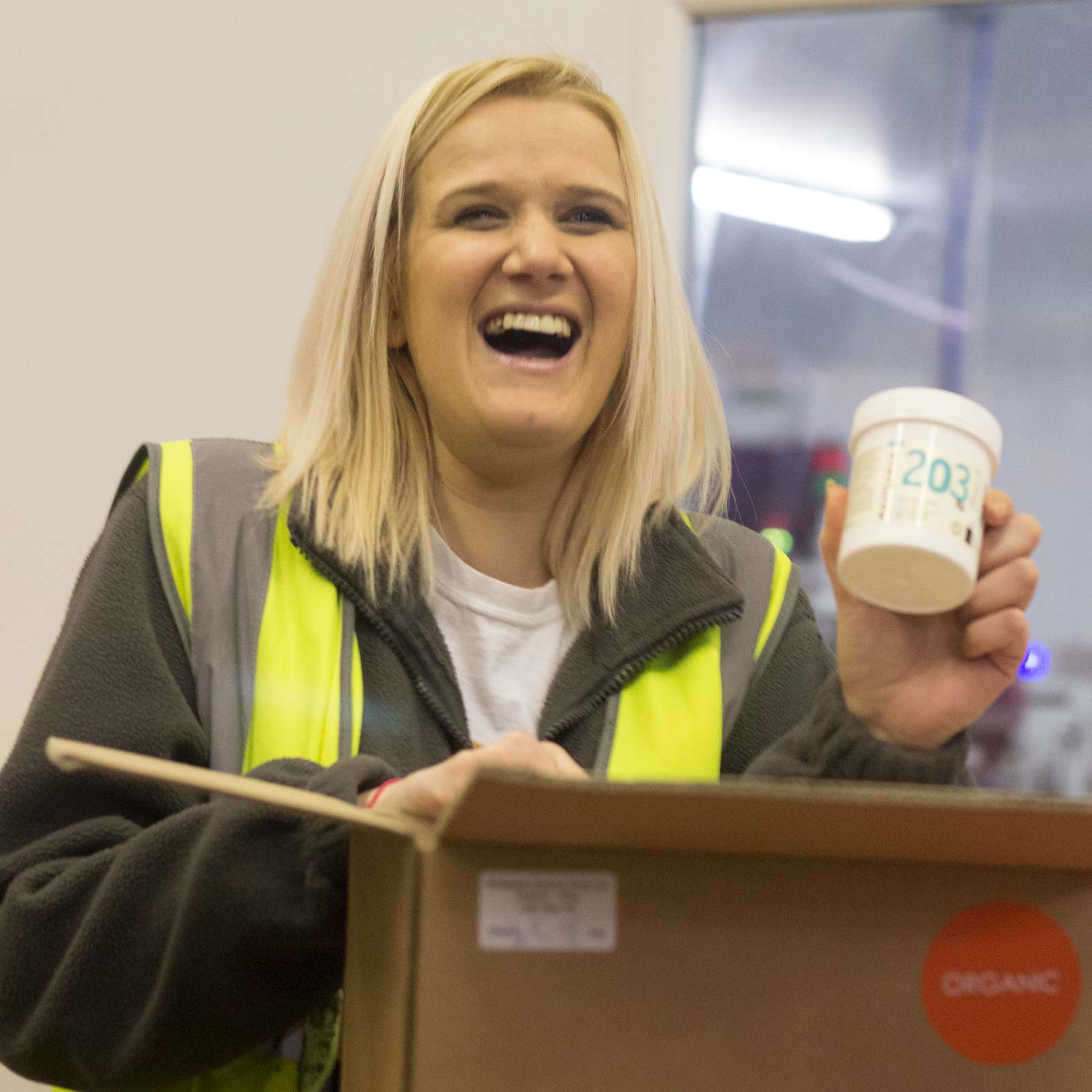"""Gemma Louise Jones Team leader FBA (Amazon Dispatch)  """"I originally started in June 2017 as agency staff but after only 2 months I was taken on as a full time Naissance employee. By being part of the team and ensuring all tasks were completed on time the hard work I put in was recognized by management and I was approached to apply for team leader position within FBA (Amazon Dispatch). This new role came with the challenge of more responsibility, but I had company support and all additional training needed. Since becoming team leader I've excelled with confidence and find great pleasure in seeing the team working hard alongside me to get the job done efficiently and on time. I love coming to work every day because I have a fantastic team to work with and we all share the same goals to making this business a bigger and better success.""""  Favourite product: """"My favorite product is orange sweet essential oil as it's a lovely aroma 😊"""""""