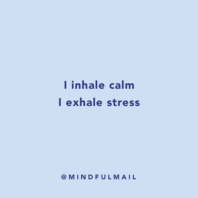 """I inhale calm, I exhale stress"" 😤 ⠀⠀⠀⠀⠀⠀⠀⠀⠀ ⠀ One of our affirmations from the little pack of calm. Do you believe in the power of affirmations? ⠀⠀⠀⠀⠀⠀⠀⠀⠀ ⠀ Our first blog post is up 👏 'Why and how to use affirmation cards?' ⠀⠀⠀⠀⠀⠀⠀⠀⠀ ⠀ If you are new to affirmations, hit the link in our bio and have a read 👀🙏 ⠀⠀⠀⠀⠀⠀⠀⠀⠀ ⠀ You can also sign up to our newsletter for 10% off your next order 💌 ⠀⠀⠀⠀⠀⠀⠀⠀⠀ ⠀ #blogpost #affirmations #affirmationcards #calm #mindfulmail"