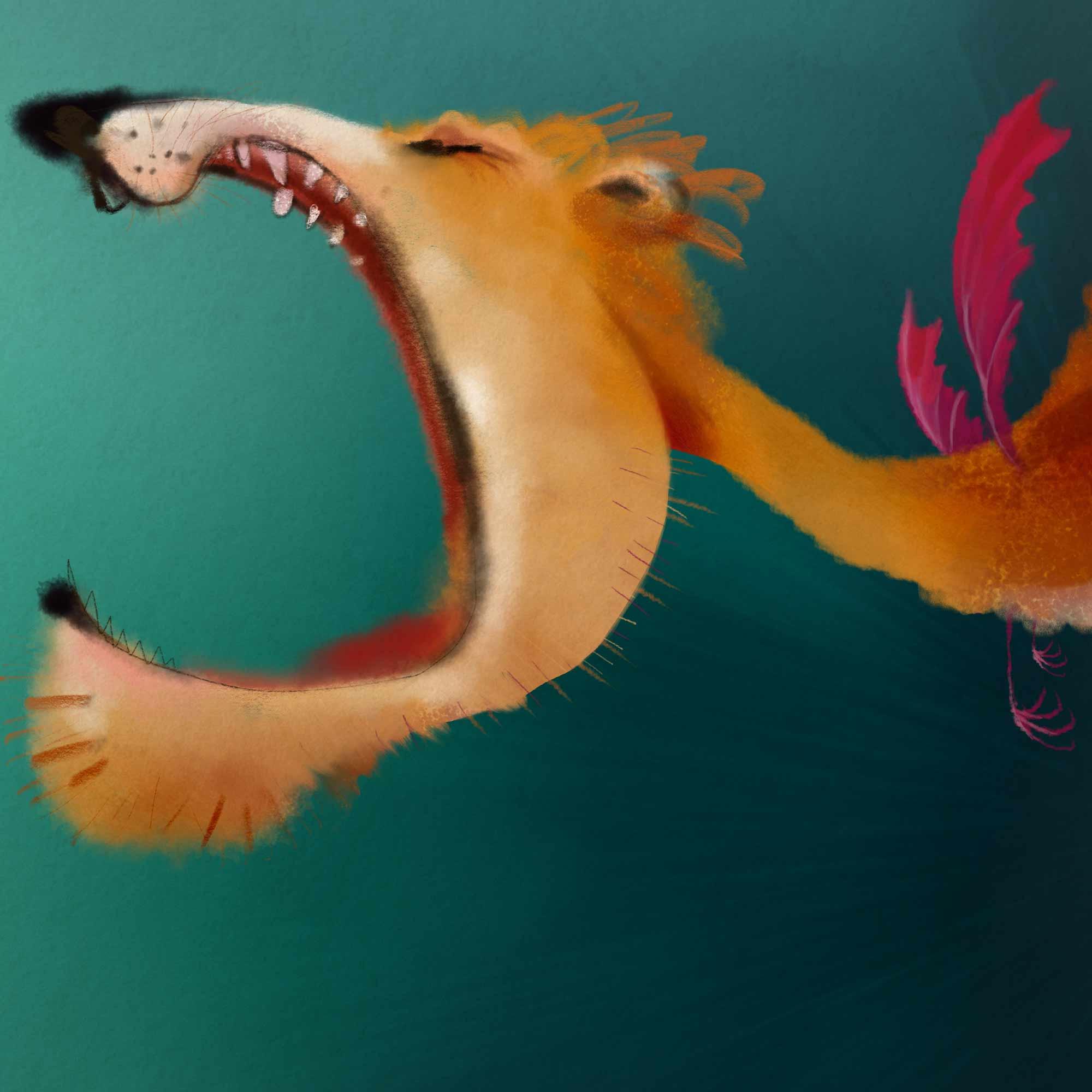 Drakenleeuw - illustratie bij gedicht