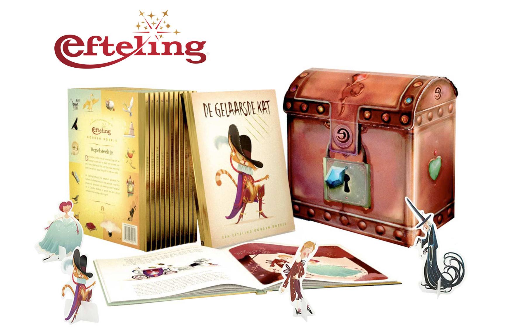 Efteling Gouden Boekjes met verzamelbox Studio Monnikenwerk ©