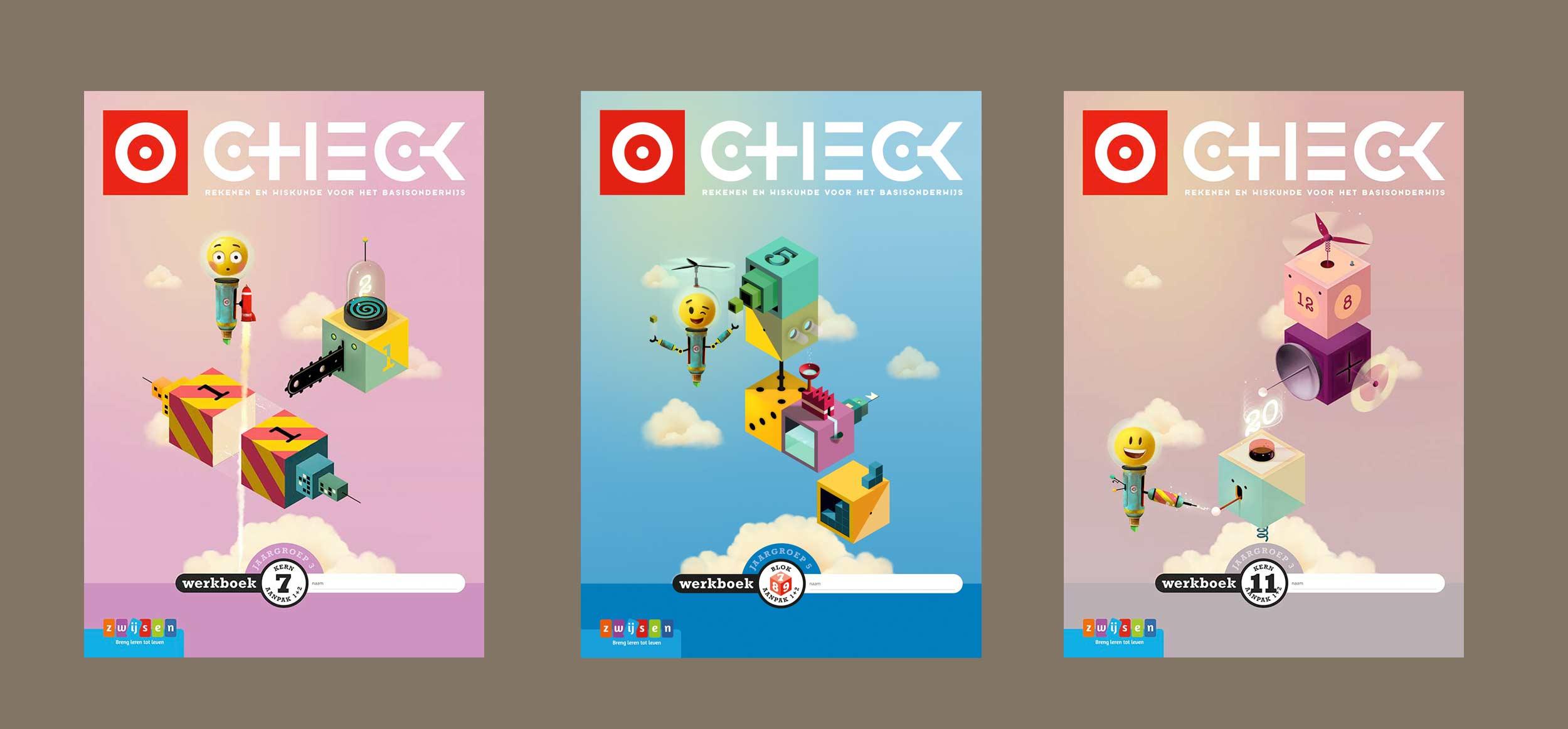 Character en omslagillustraties Check! Uitgeverij Zwijsen | © Studio Monnikenwerk