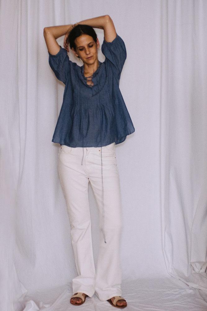Blouse:  Nili Lotan , pants:  Acne