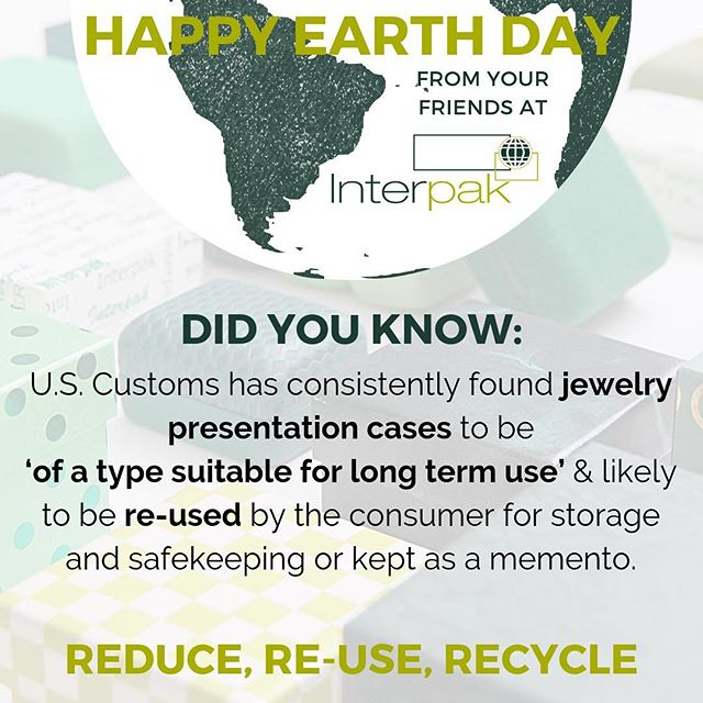 Packaging can be used for a long time - especially jewelry packaging. Keep your boxes for storage, protection and showcasing! #earthday #interpak