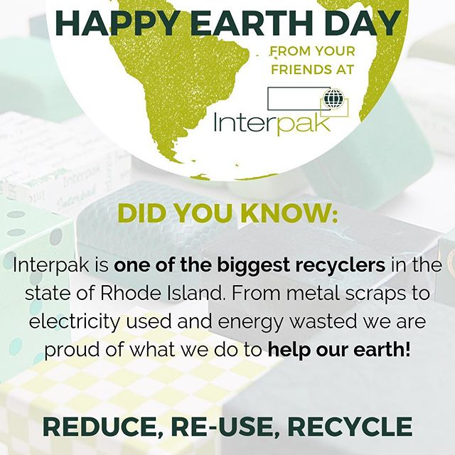 Earth day is a great day to remember what we can do to make the world a better place for a long time to come! #earthday #interpak