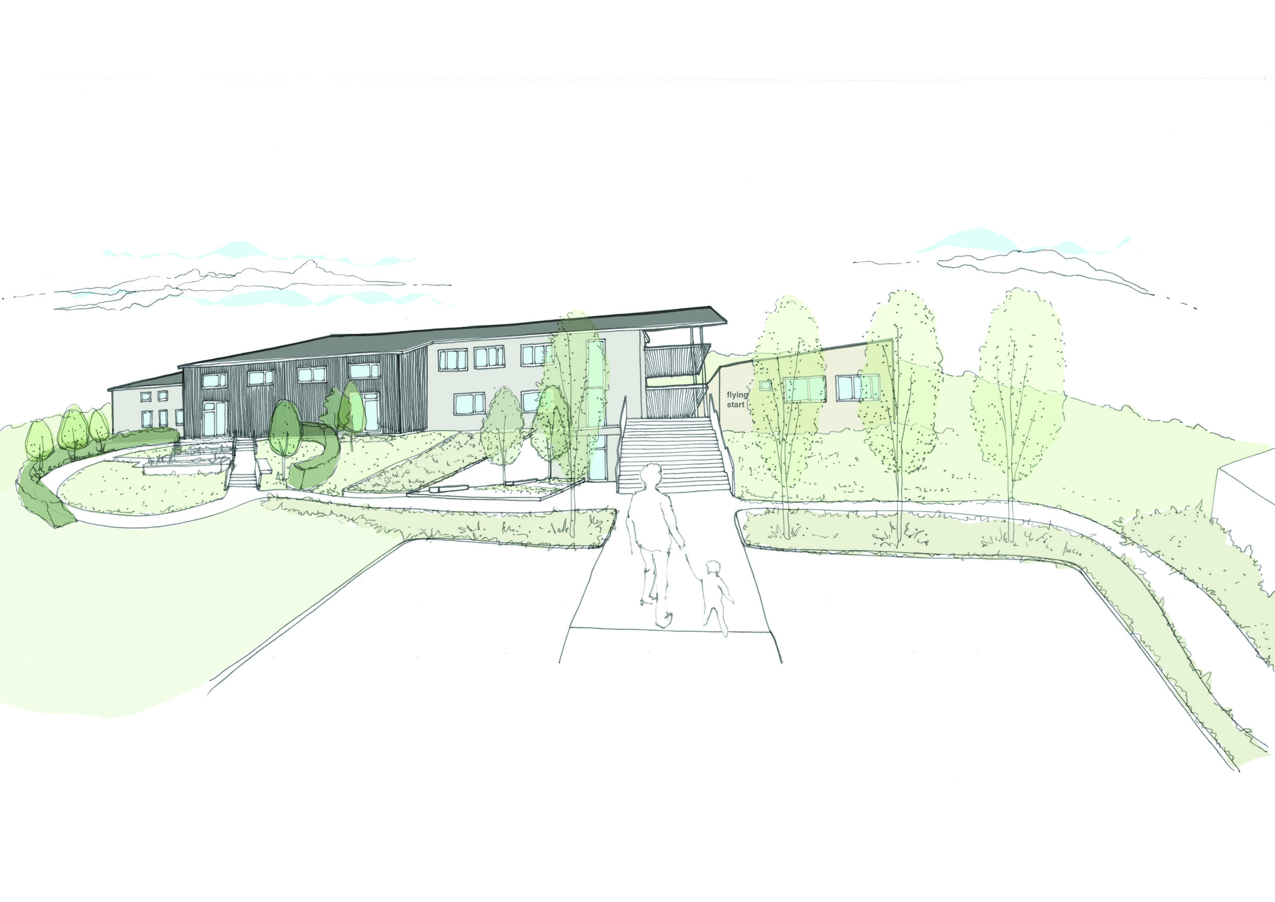 Wales' first fully Passivhaus Primary School - Located on a steeply sloping site overlooking spectacular Carmarthenshire countryside, the original school was no longer fit for use and in desperate need of replacement.