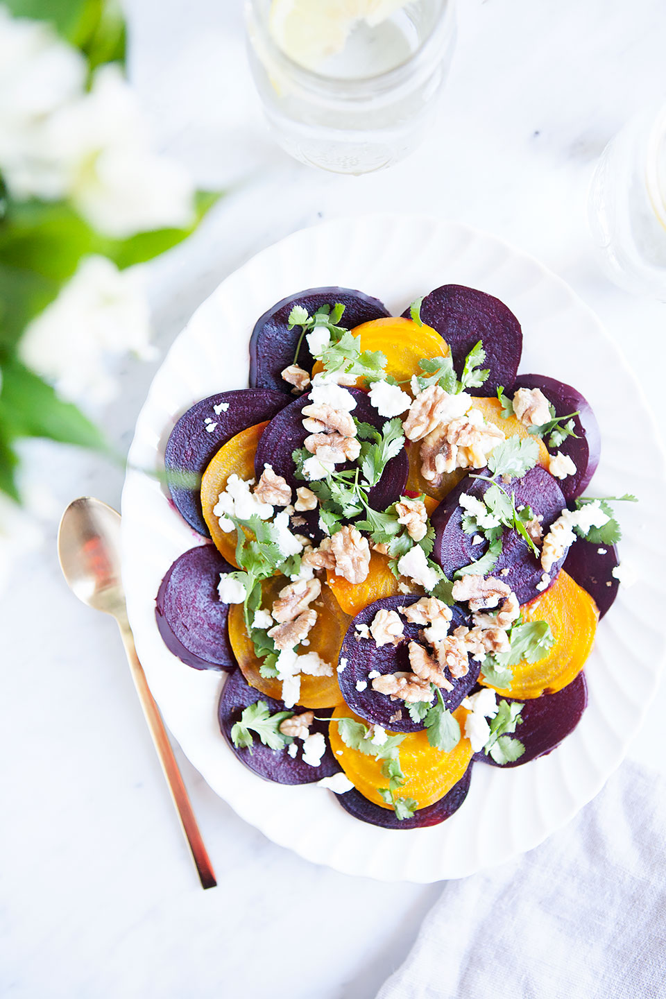 Beet, Goat Cheese, and Walnut Salad | Gluten-Free and Paleo. | Loveleaf Co.
