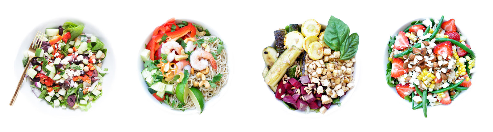 Shrimp Noodle Bowls with Spicy Peanut Dressing   Easy Gluten-Free Recipe   Loveleaf Co.