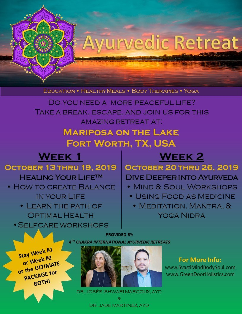 Mariposa on the Lake Retreat - Fort Worth,Texas,USAWeek 1: October 13-19, 2019Week 2: October 20-29, 2019