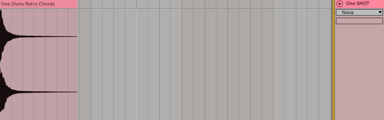 step 1: Drop one shot into your DAW. I use ableton so that is the DAW I will be using throughout this post, but this translates to all DAWs.
