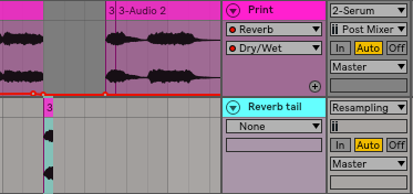 Create a new audio track, and copy and paste the chord chunk onto it.
