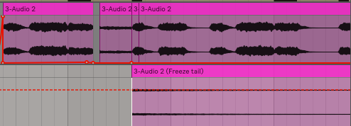 With that initial chunk removed you now just want to cut and move it up to your track with the chord progression. You can now delete the excess reverb tail.