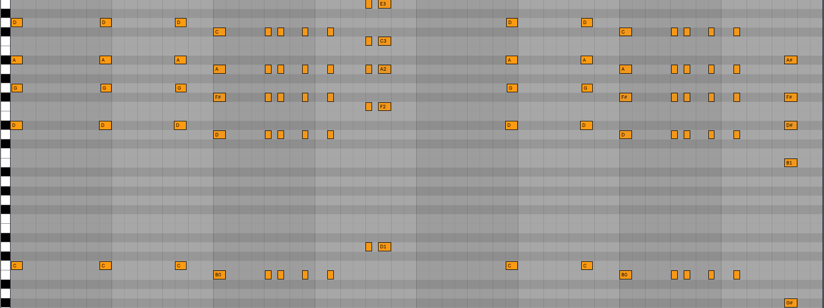These are the same chords as above, just made smaller and chopped up