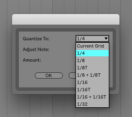 A standard feature on most quantization settings is resolution size. This usually defaults to 1/16th.