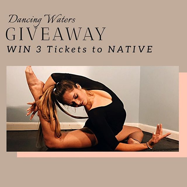 JOIN OUR GIVEAWAY!!! Here's How to Win 3 Tickets to the NATIVE & The Gallery:  1. Tag 2 friends you want to bring with you 2. Follow @dancingwaters.arts 3. Share our event NATIVE on your story or feed 4. Multiple entries welcome! WINNERS will be announced April 10th on our story! . . . #giveaway #dancingwaters #native #thegallery2k19 #nonprofit #joinus #downtownwpb #dance #modern #community