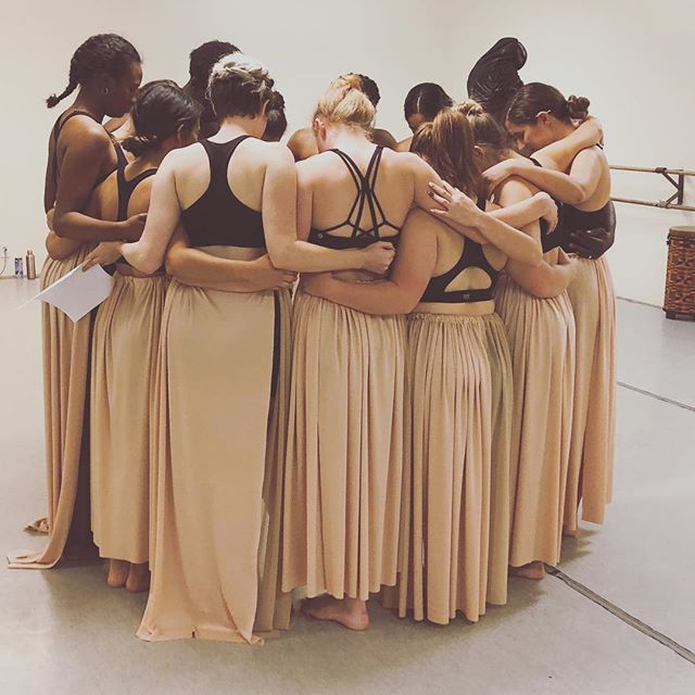 A moment of family and prayer after dress rehearsal for NATIVE. We love our dancers and are so pumped to perform for you! Get tickets early by clicking the link in our bio. Monday, April 22 at 6:30pm - performance and interactive arts event! . . #downtownwpb #westpalmarts #westpalmdance #dancecompany #dancingwaters #contemporarydance #moderndance #palmbeacharts #theater #liveartgallery