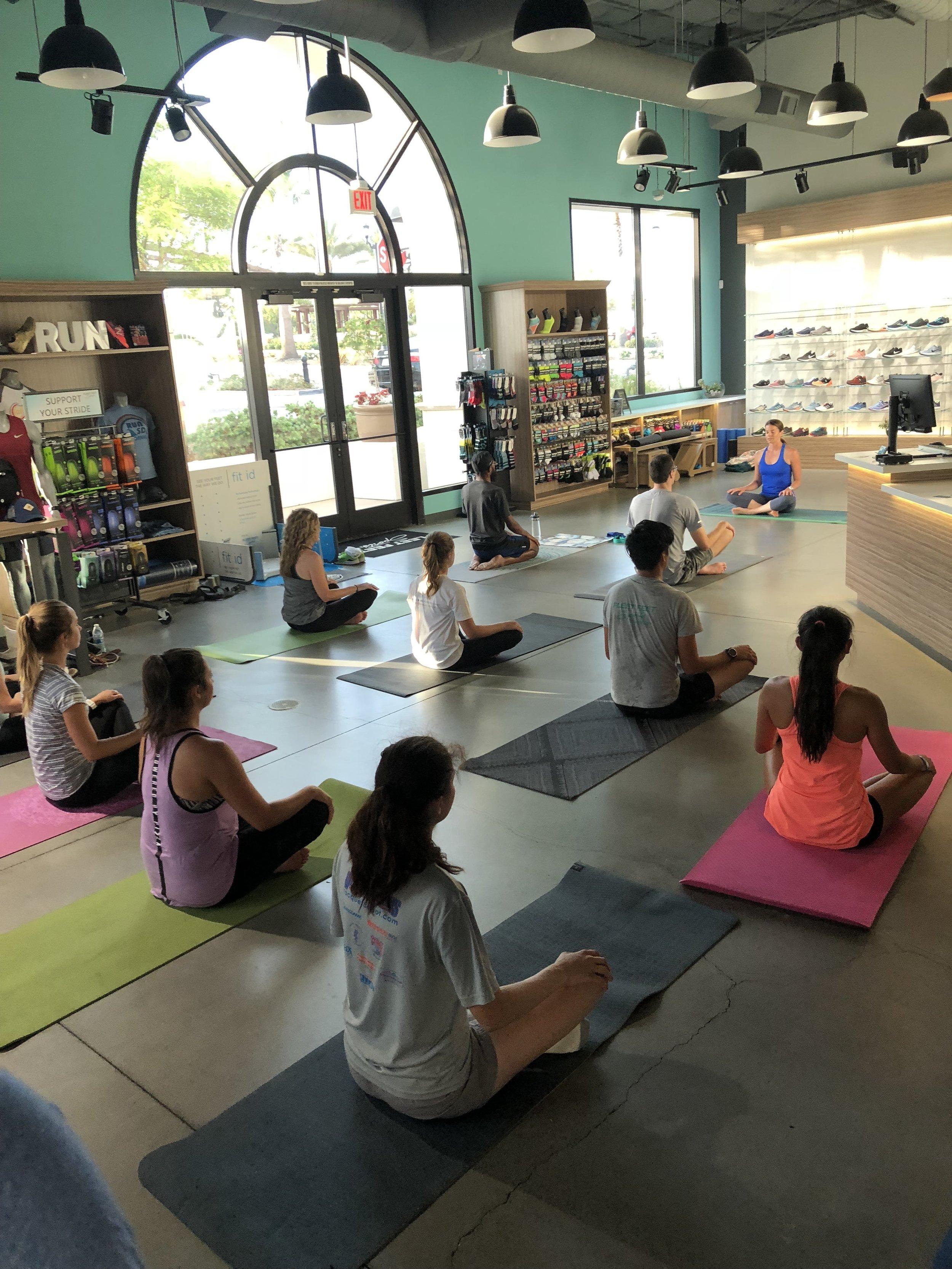 yoga at fleet feet.JPG