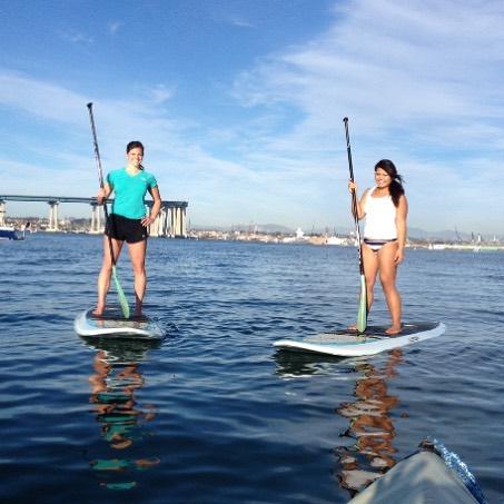 Summer paddles with @les_c712 are always a good idea! 🌊 #playtimeinsandiego #supsandiego #ilovesummer