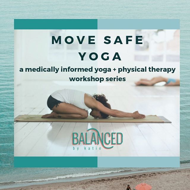 Introducing Move Safe Yoga Workshop Series! . In four sessions we will discover how therapeutic yoga can address neck tension, posture, core strength, hip flexibility, healthy knees, balance and injury prevention. . Sunday's 2-4pm at Lorna Jane Del Mar.  Drop in $30 per class, Full series $100. . WHY Move Safe Yoga? . With over 10 years of experience as a physical therapist, Katie is an expert in orthopedic rehabilitation.  In her holistic approach she couples principles of physical therapy while teaching therapeutic yoga classes targeting specific muscle groups and movements.  Katie is passionate about helping people feel the benefits of yoga as a movement practice that enhances flexibility, strength, stress relief, and balance. . All levels of yoga are welcome to attend. . Click ☝️ in bio to register on website!  First workshop is coming up on Oct 27th!