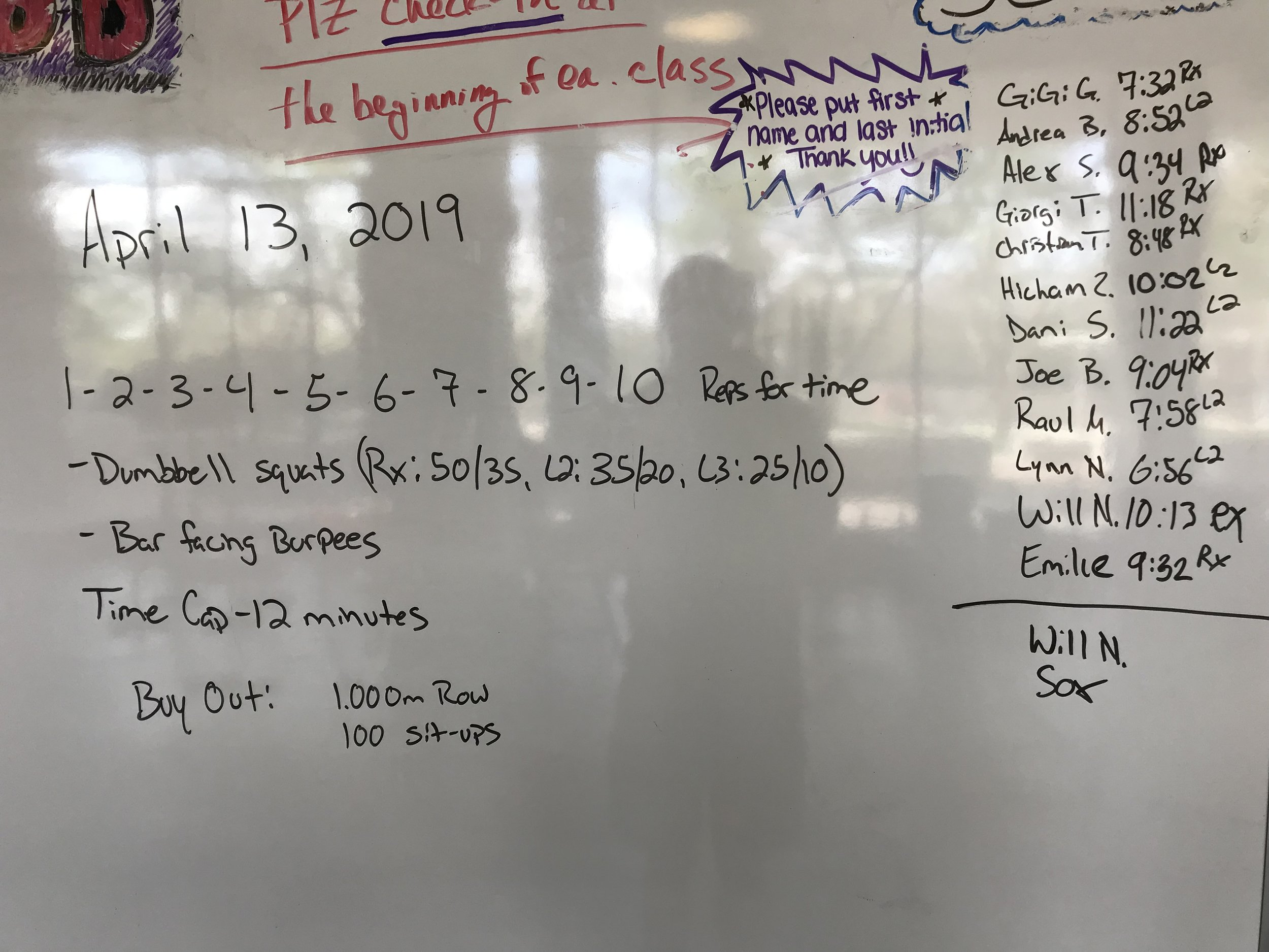 Workout of the Day - April 13, 2019 — CrossFit Rosslyn