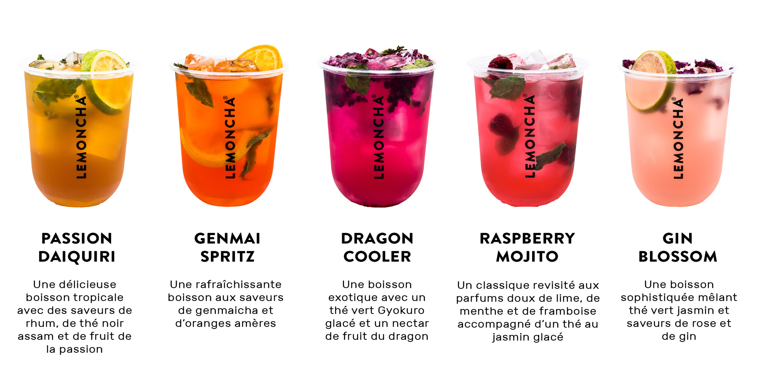 Lemoncha Mocktails Range