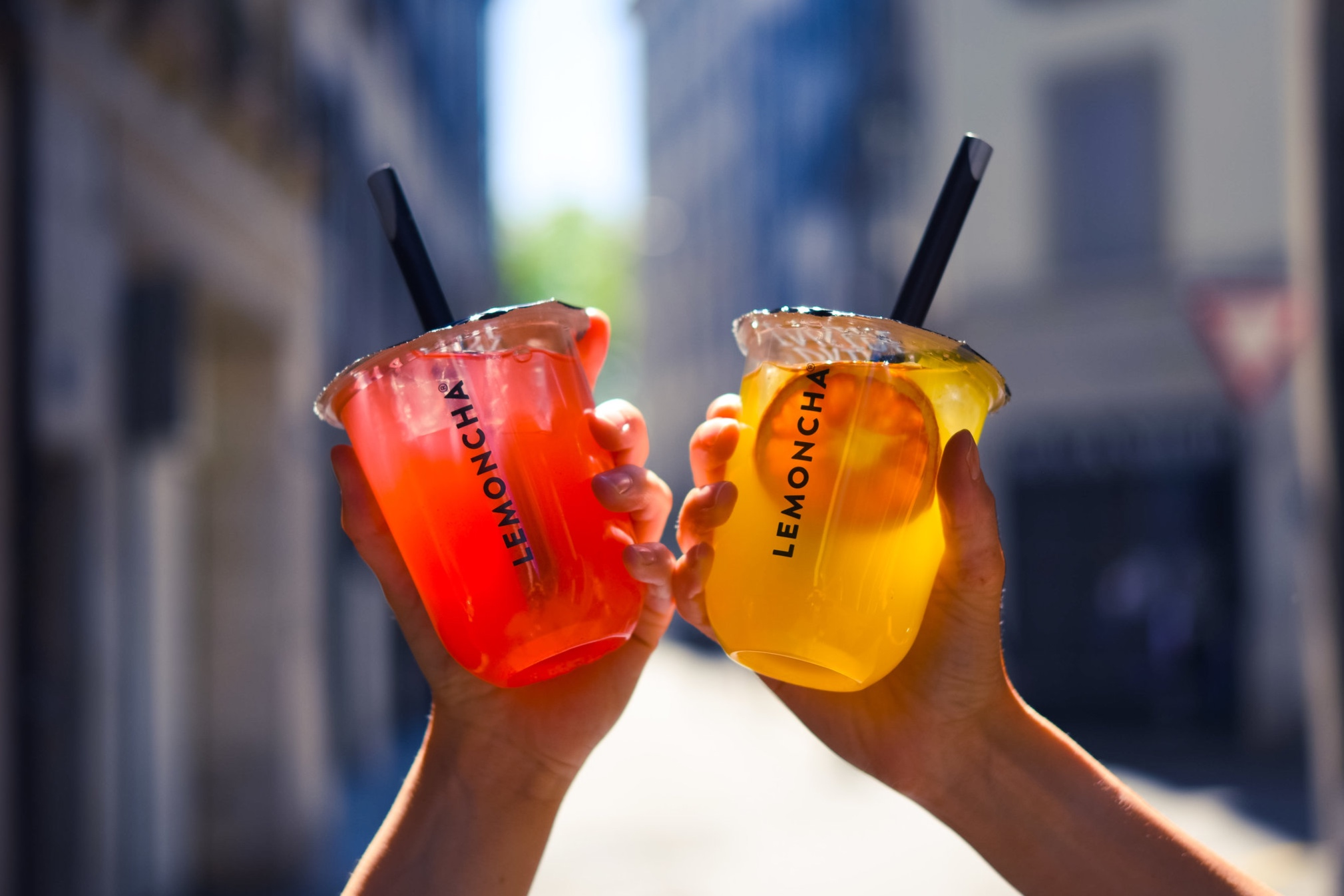 Lemoncha - Red and Yellow iced teas