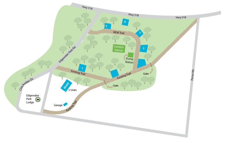 Map of campsite area