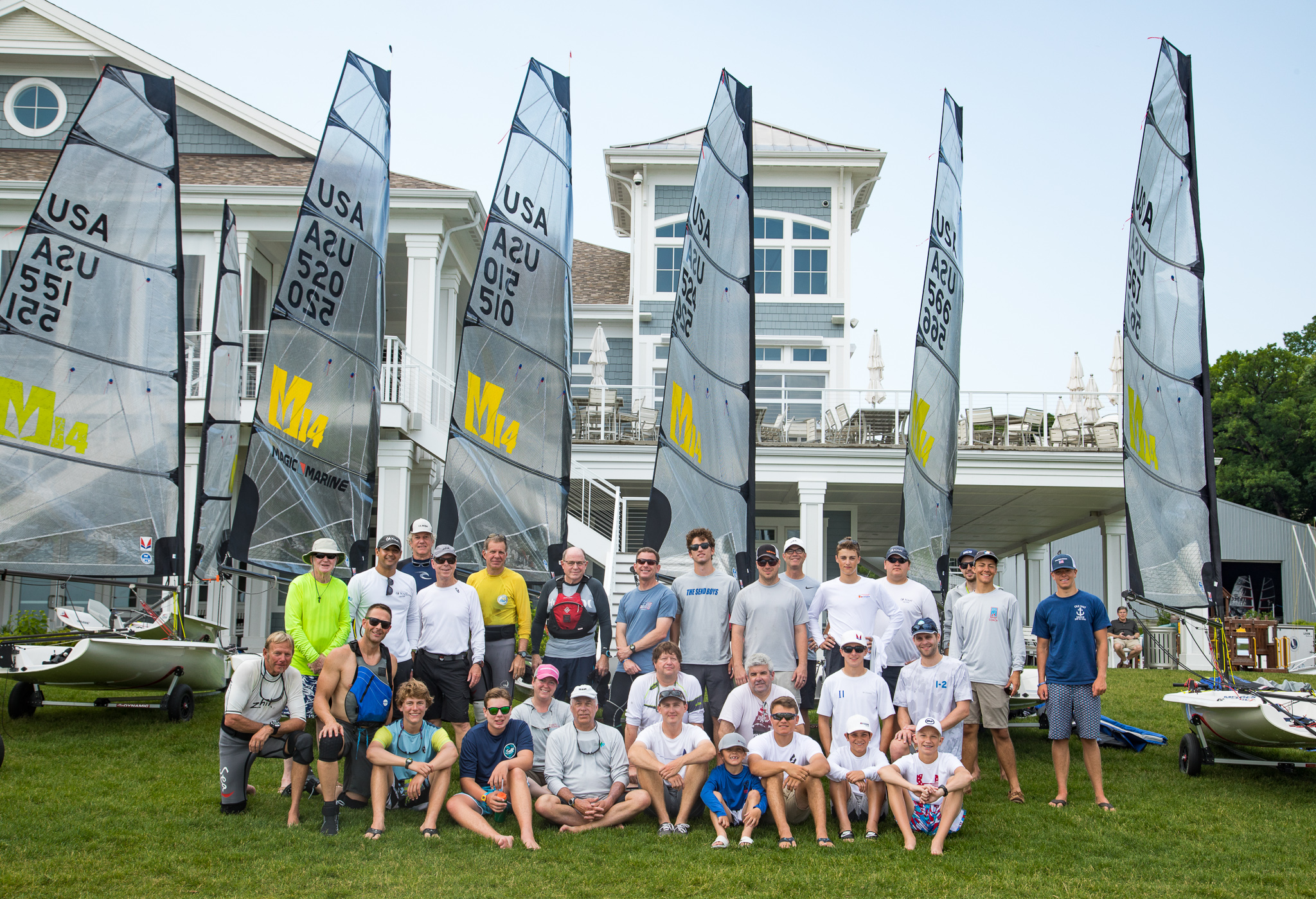 Some of the competitors at the Melges 14 U.S. National Championship