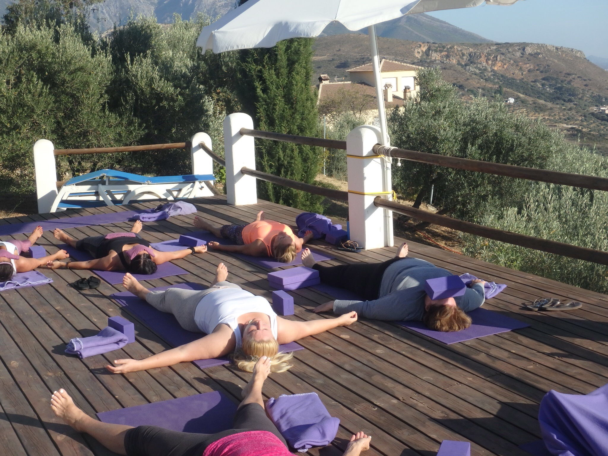 Yoga on the outdoor Deck at Centro Punto de Luz