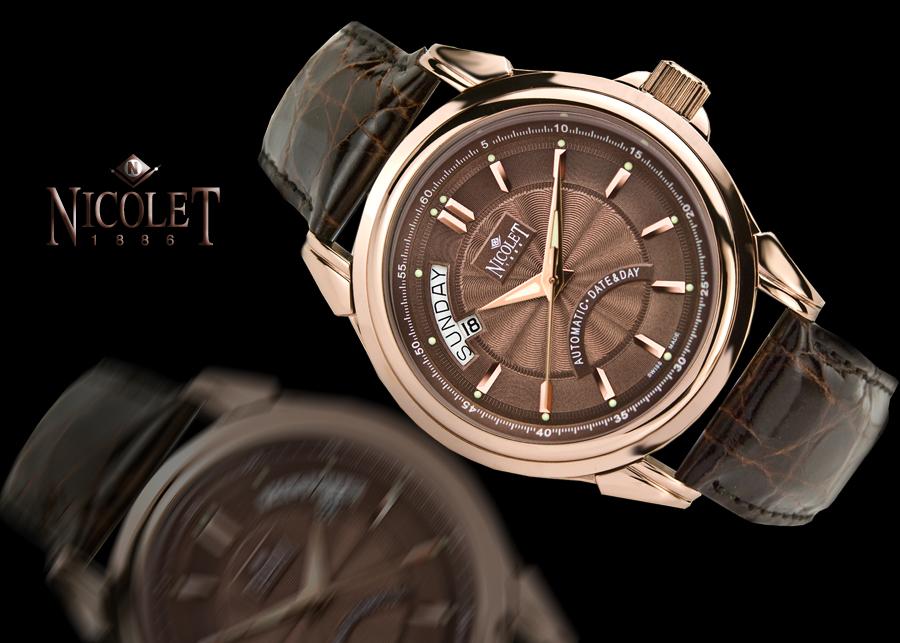 Nicolet Centarus Chocolate Dial